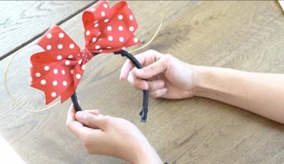 DIY Mickey Wire Ears Finished Ears