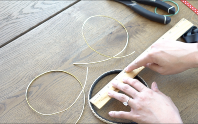 DIY Mickey Wire Ears Headband Measuring