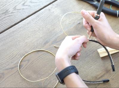 DIY Mickey Wire Ears Headband Marking