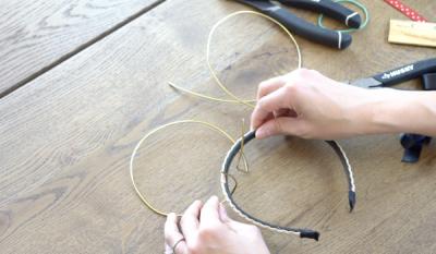 DIY Mickey Wire Ears Wire Attachment