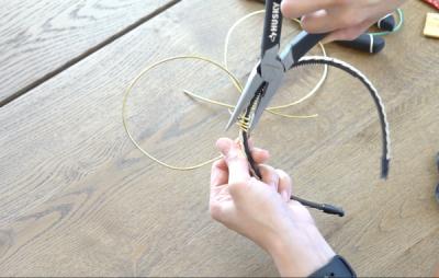 DIY Mickey Wire Ears Wire Tightening