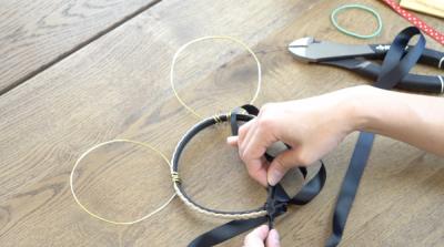 DIY Mickey Wire Ears Headband Wrapping