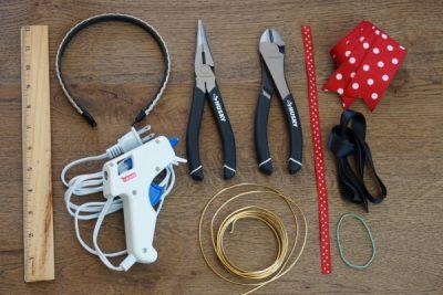 DIY Mickey Wire Ears Supplies