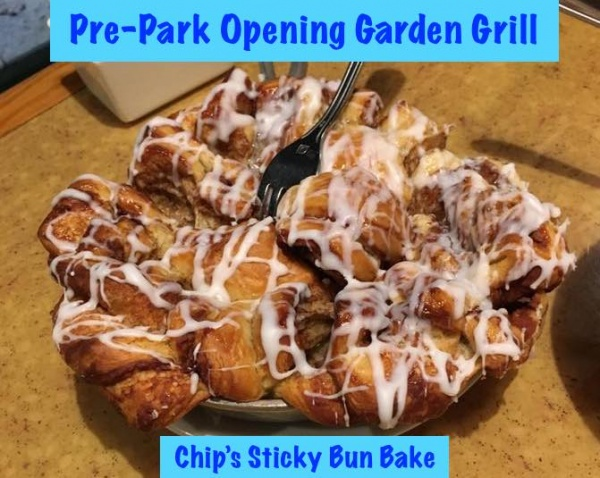Pre-Park Opening Garden Grill breakfast
