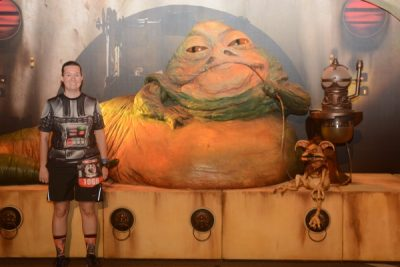 Pre-Race Picture with Jabba the Hutt