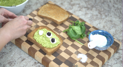 Toy Story Alien Avocado Toast Eye Balls