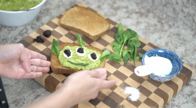 Toy Story Alien Avocado Toast Yum!