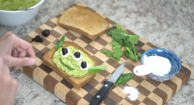 Toy Story Alien Avocado Toast Smile