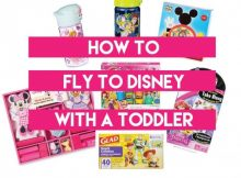 Fly to Disney with a Toddler