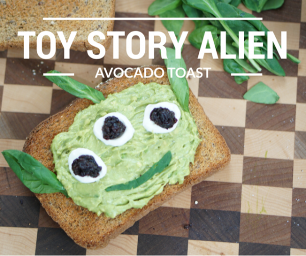 Toy Story Alien Avocado Toast
