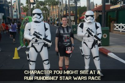 Stormtroopers are some of the characters you will see during the race.