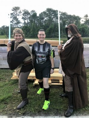 Star Wars Darkside Half Marathon picture with the 501st