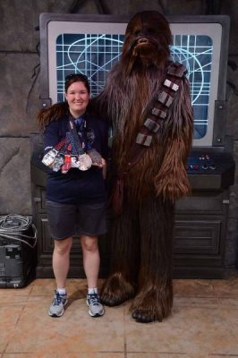 Star Wars Darkside Post Race Chewie Photo