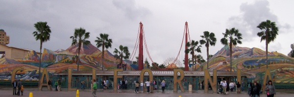 Entrance to California Adventure 2009