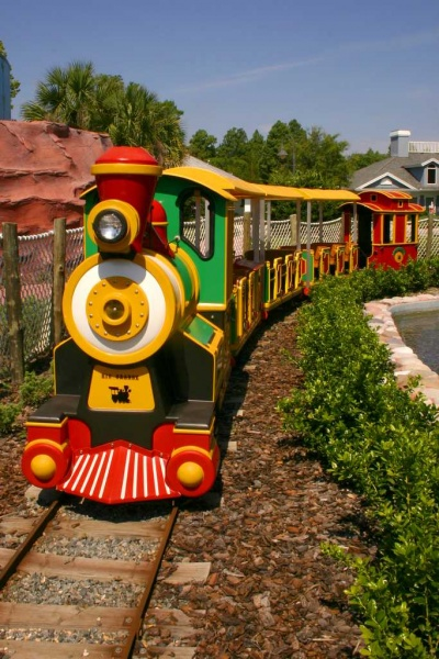 Accessible train at Give Kids The World Village