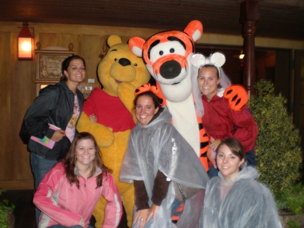 Rainy day meet up with Winnie the Pooh and Tigger