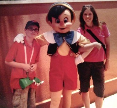 My eldest son and I in Magic Kingdom (2010) Pinocchio