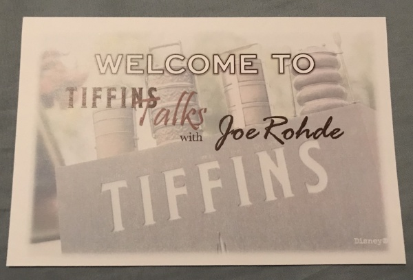 Tiffins Talks Postcard