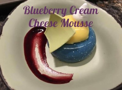 Blueberry Cream Cheese Mousse, Satu'li Canteen, Disney Dining