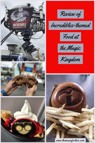 Incredibles-themed food at the Magic Kingdom