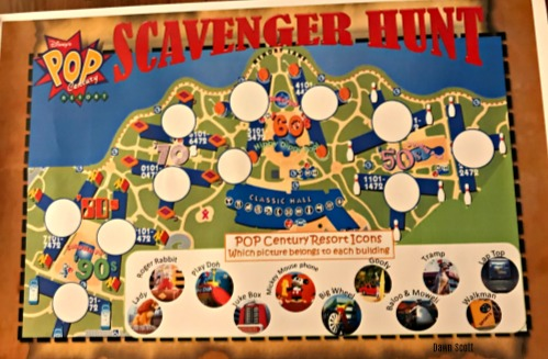 Pop Century Resort Scavenger Hunt