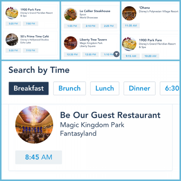 last minute dining availability