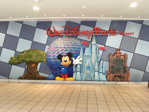 Walt Disney World Sign at Orlando Aiport