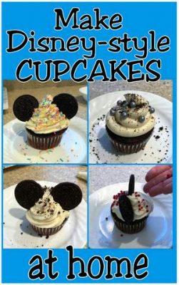Disney-style cupcakes