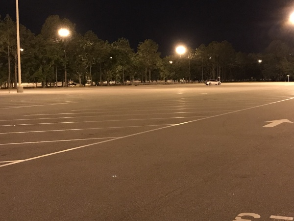 Only car in the Magic Kingdom lot