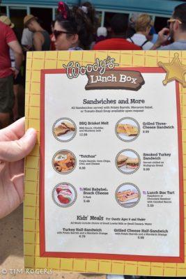 Woodys Lunch Box Menu
