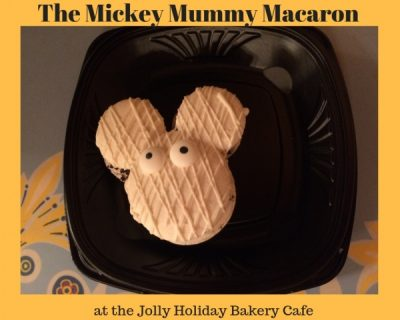 The Mickey Mummy Macaron at the Jolly Holiday Bakery Cafe
