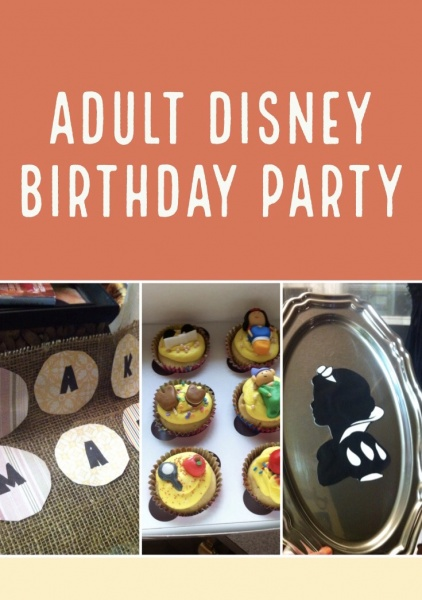 Adult Disney Birthday Party