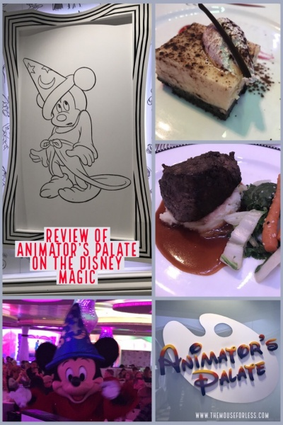 Review of Animator's Palate on the Disney Magic