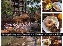 Dining during a runDisney Race Weekend without the Parks