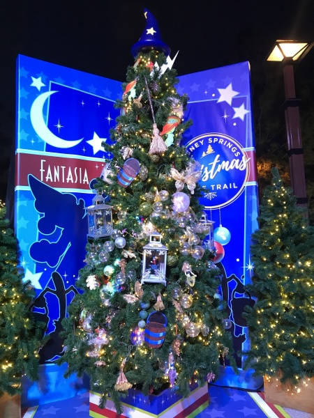 Christmas tree themed to Fantasia