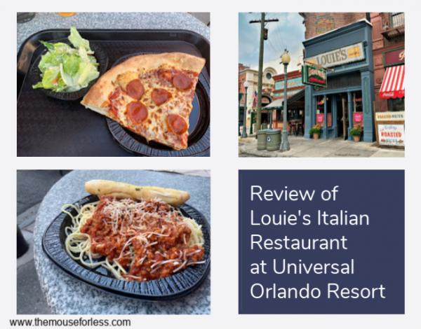 Review Of Louies Italian Restaurant Universal Studios Florida