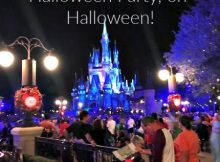 Attending Mickey's Not So Scary Halloween Party, on Halloween