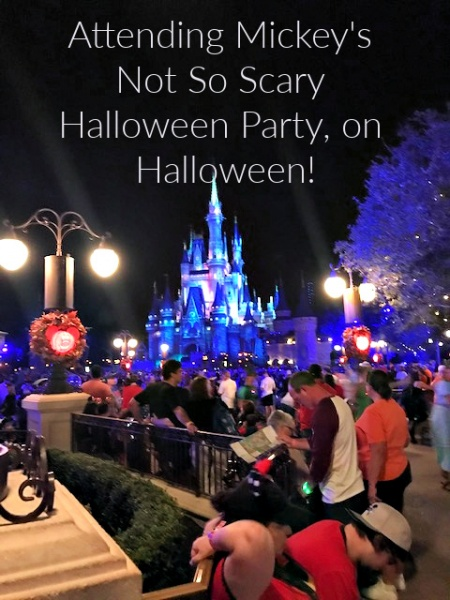 Attending Mickey's Not So Scary Halloween Party, on Halloween!