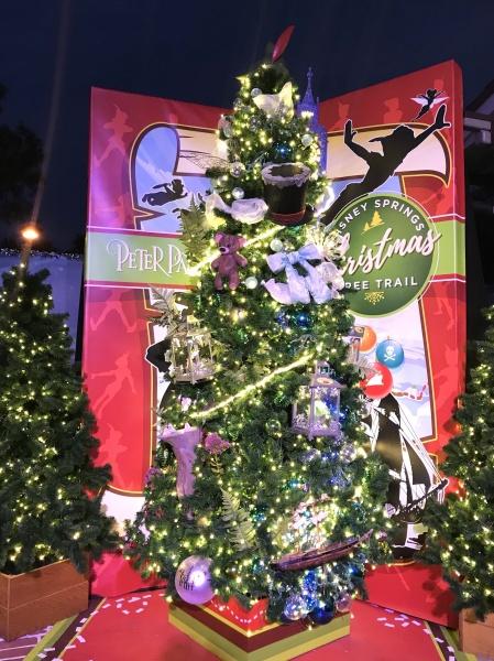 Christmas tree themed to Peter Pan