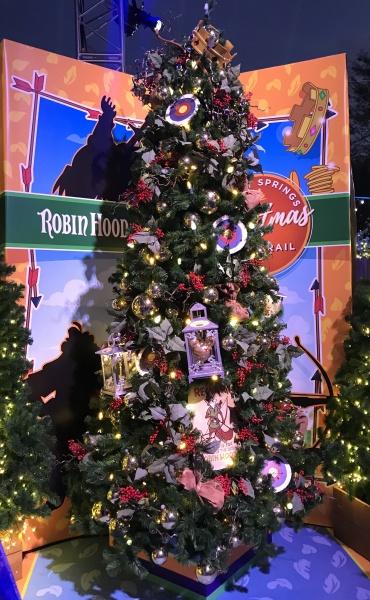Christmas tree themed to Robin Hood