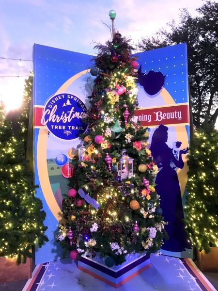 Christmas tree themed to Sleeping Beauty