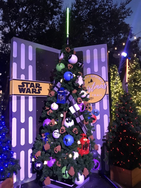 Christmas tree themed to Star Wars