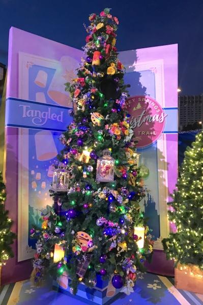 Christmas tree themed to Tangled