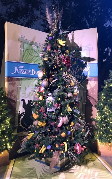 Christmas tree themed to The Jungle Book