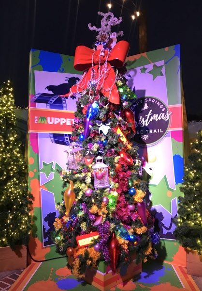 Christmas tree themed to The Muppets