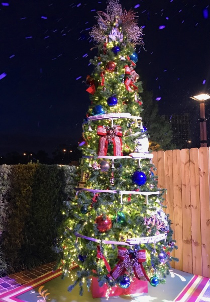 Christmas tree themed to Walt Disney World Resort