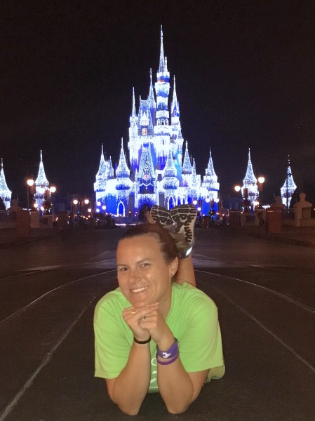 Picture in front of Cinderella's Castle after Give Kids the Rides