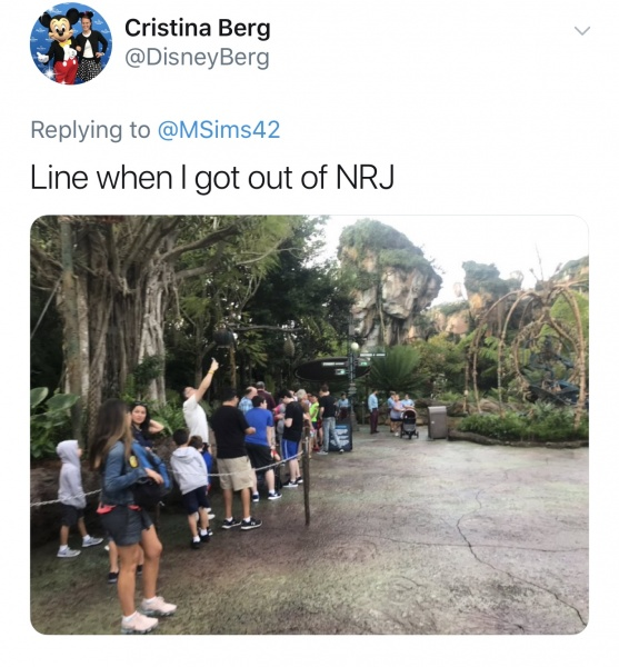 Lines getting long at Animal Kingdom