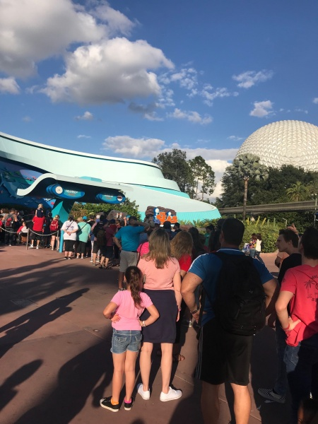 FastPass line outside of The Seas Pavillion