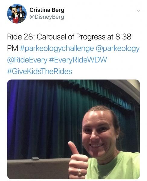 Selfie Tweet on Carousel of Progress
